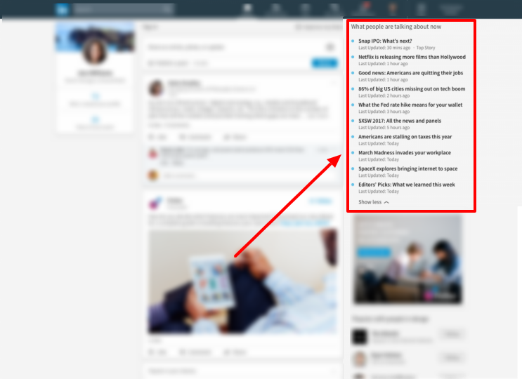 LINKEDIN'S NEW FEATURE